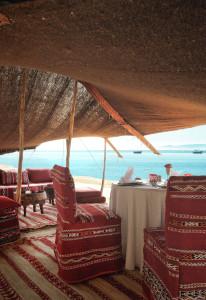 Moroccan Berber tent beach picnic